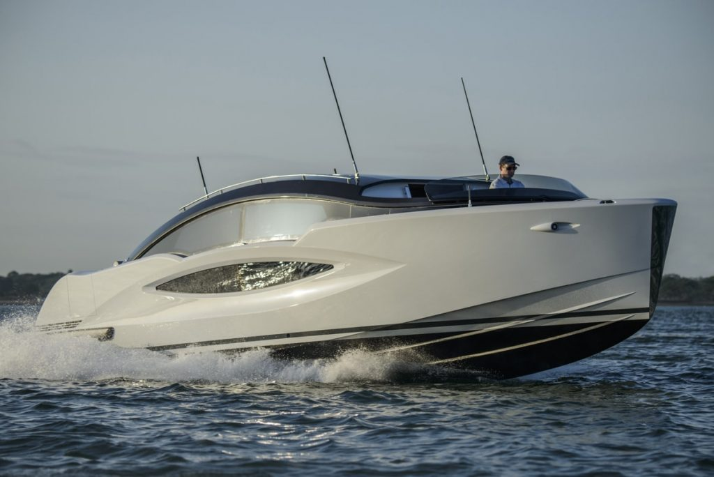 Compass Tenders front view of 11m limo tender