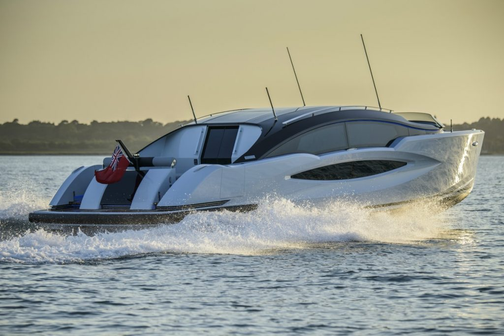 Compass Tenders rear and side of 11m limo tender